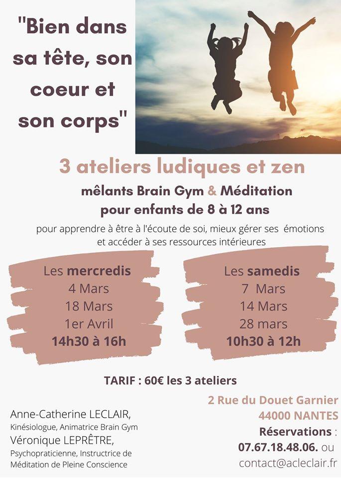 programme ateliers ludique et zen enfants